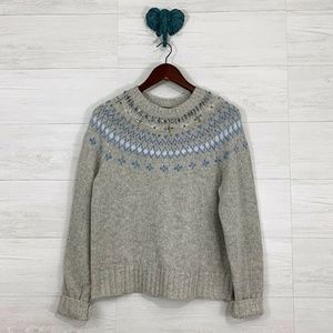 J Crew Lambs Wool Alpaca Jeweled Embellish Sweater